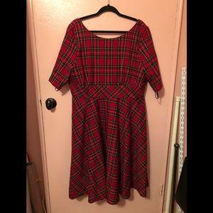 Hell Bunny Plaid Dress NWT